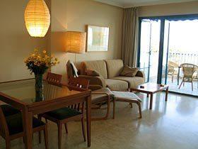 Wohnzimmer Ferienwohnung Playa Galera