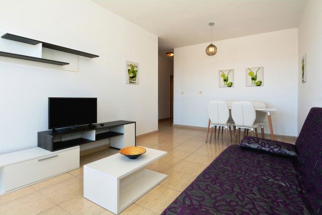 FUE 110068-54 Wohnzimmer mit Flat-TV mit deutschen TV-Programmen