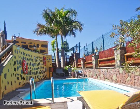 Gran Canaria Westküste Ferienhaus mit privatem Pool