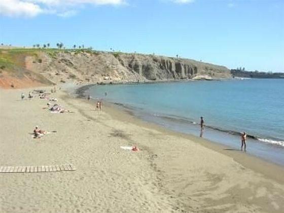Privater Strand der Urbanisation Pasito Blanco