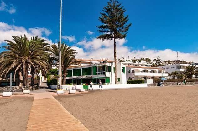 Blick vom Strand zum Haus
