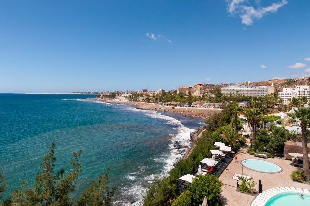 164835-18 Blick auf den Strand von San Agustin