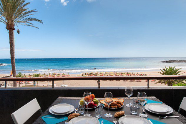 GC 164835-30 Spanien Kanaren Ferienwohnung mit Meerblick am Strand von Las Burras
