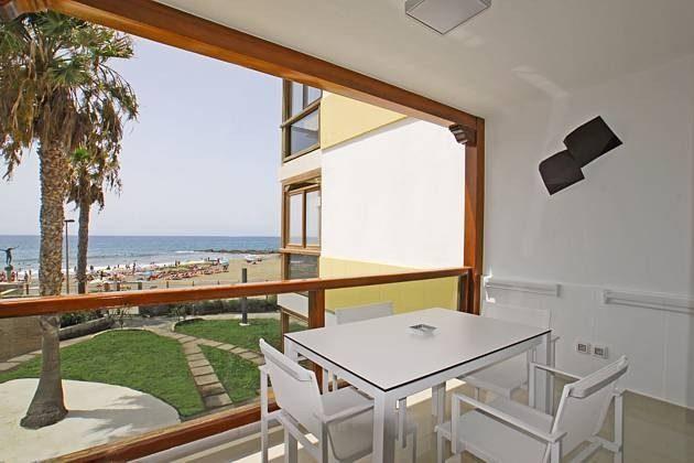Balkon/Terrasse mit Meerblick