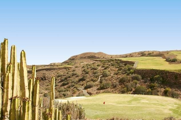 Blick auf den Golfplatz Salobre Golf