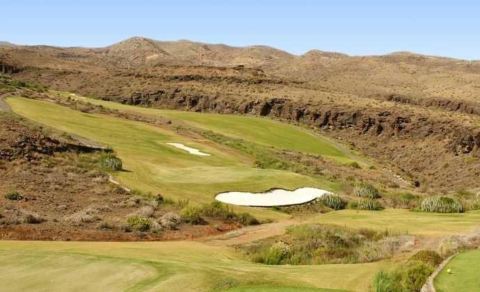 Blick auf den Golfplatz