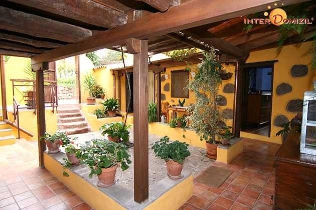 Patio/Innenhof von Haus 1, von dem alle Zimmer abgehen