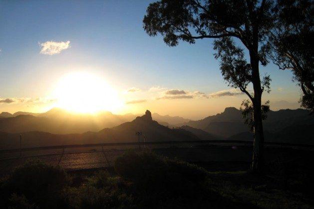 Sonnenuntergang in den Bergen bei Tejeda