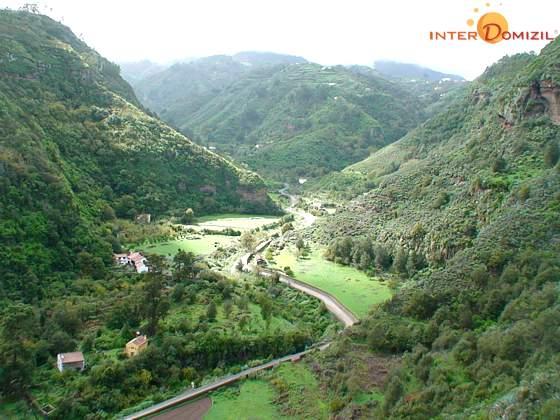 """Barranco de la Virgen"" und Haus GC 27219-1 unten links"