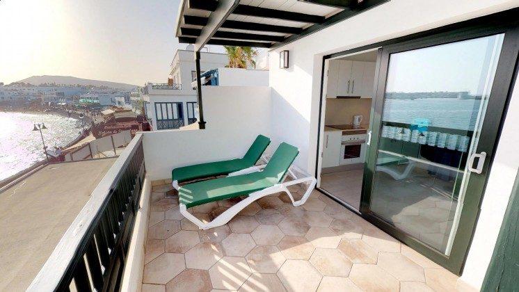 Kanarische Inseln Lanzarote Apartment mit Terrasse und Meerblick