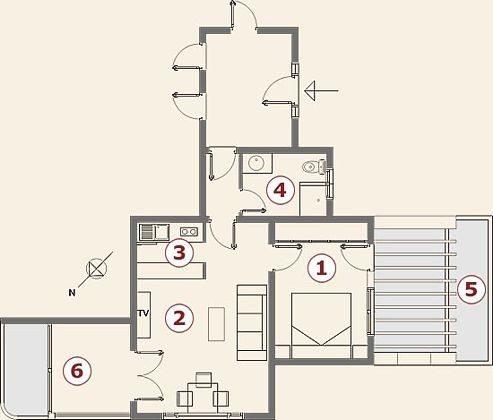 Grundriss Wohnung Querida