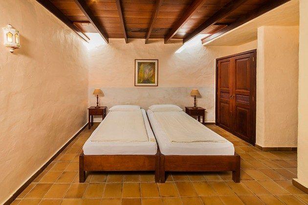 Schlafzimmer mit zwei Einzelbetten, Wohnung 4 Casita Margaretha
