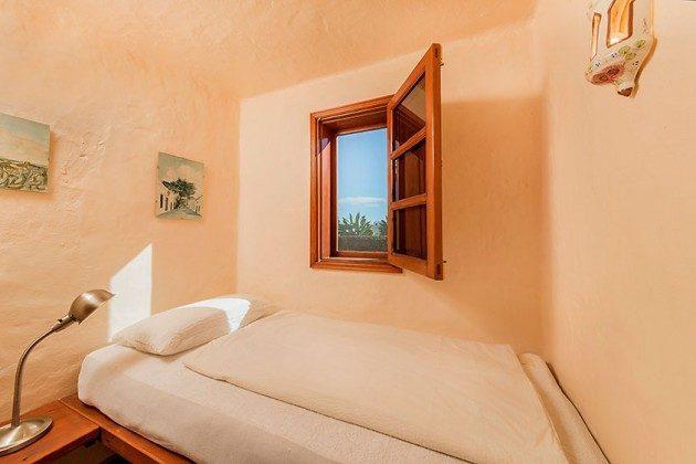 Schlafraum mit Einzelbett, Wohnung 4 Casita Margaretha
