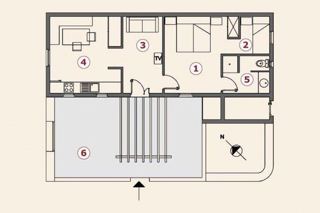 Grundriss, Wohnung 4 Casita Margaretha