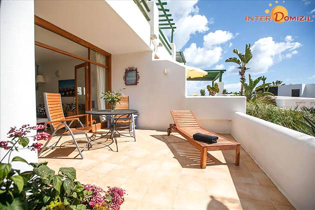 Ferienbungalow Lanzarote mit Meerblick und Pool