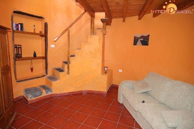 Aufgang Schlafzimmer + Durchgangsraum im Erdgeschoss mit Schlafsofa Wohnung El Molino