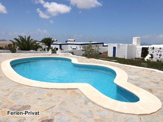 Lanzarote Apartement Famara Strand mit Pool