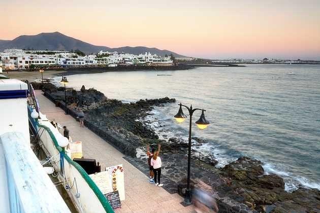 Promenade am Abend