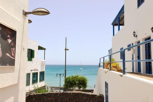 Blick zum Meer von der Terrasse