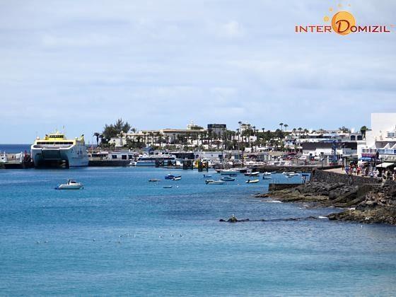 210770-2 Blick zum Hafen von Playa Blanca