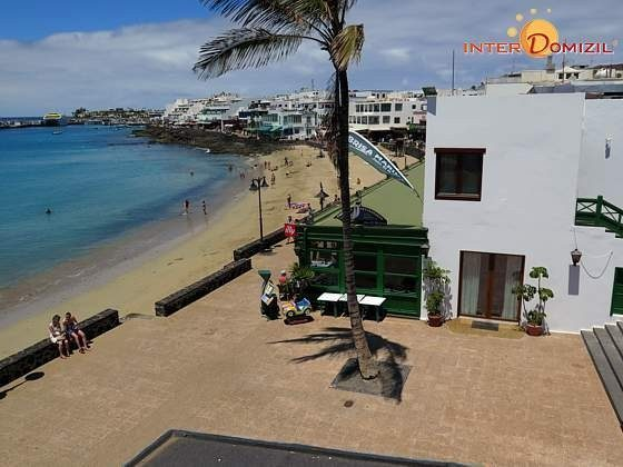 Blick auf den Strand von Playa Blanca