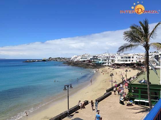 Ferienwohnung Kanaren Lanzarote mit Terrasse und Meerblick