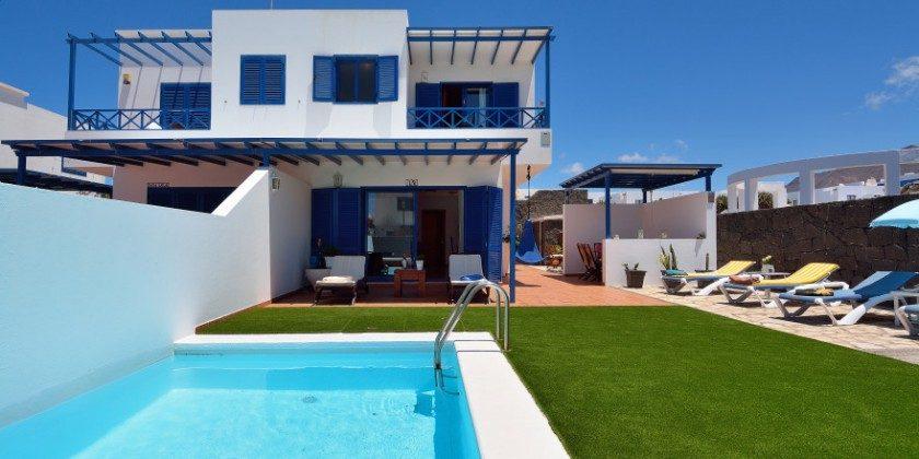 Kanarische Inseln Lanzarote Ferienhaus mit Pool
