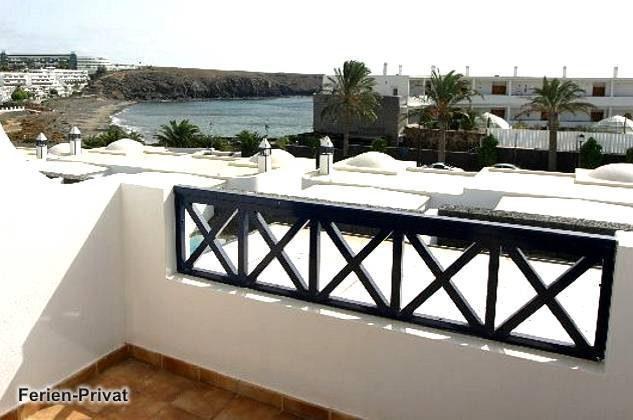 Terrasse im Obergeschoss mit Meerblick