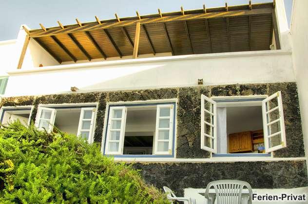 Außenansicht des Hauses vom Meer aus