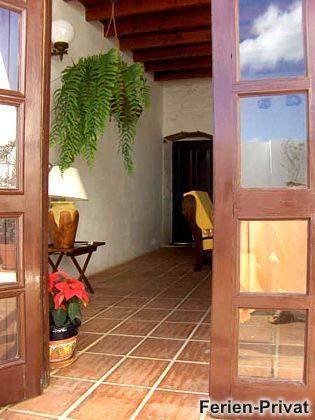 Eingang Wohnbereich vom Patio
