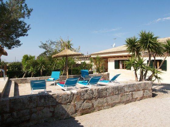 Spanien Mallorca Campos Ferienhaus Ref. 2455-100 Terrasse am Pool