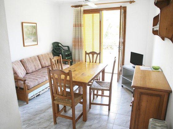 Wohnbereich Ferienwohnungen Cala Santanyi
