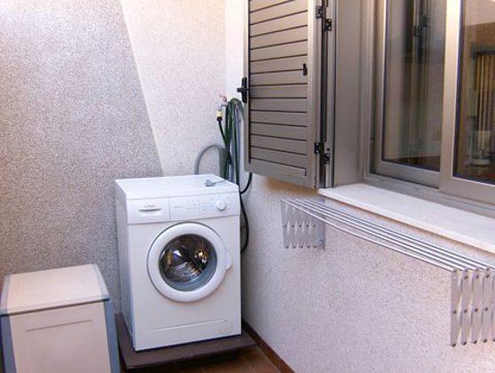 Waschmaschine im Patio
