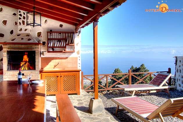 Ferienhaus Teneriffa mit Blick auf Küste und Teide