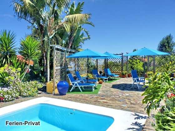 gemeinschaftliche Terrasse und Pool