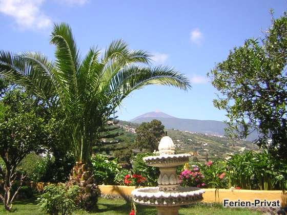 Garten und Blick auf den Teide
