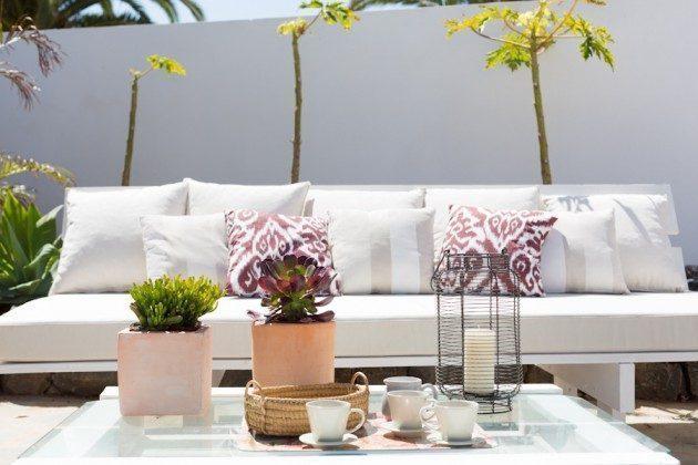 Wohnbeispiel: gemütliche Sitzmöbel auf der Terrasse