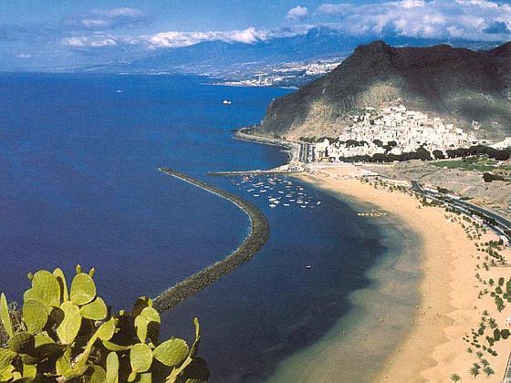Blick auf denTeresitas Strand